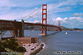 The typical tourist shot of the Golden Gate Bridge. San Francisco, CA 'Nikon F100 35mm SLR' (Click for larger view)