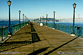 This shot was taken on the same pier as the previous photo along 'The Embarcadero' This time however the view is to the east toward Yerba Buena Island with the San Francisco-Oakland Bay Bridge on the right. San Francisco, CA 'Nikon F100 35mm SLR' (Click for larger view)